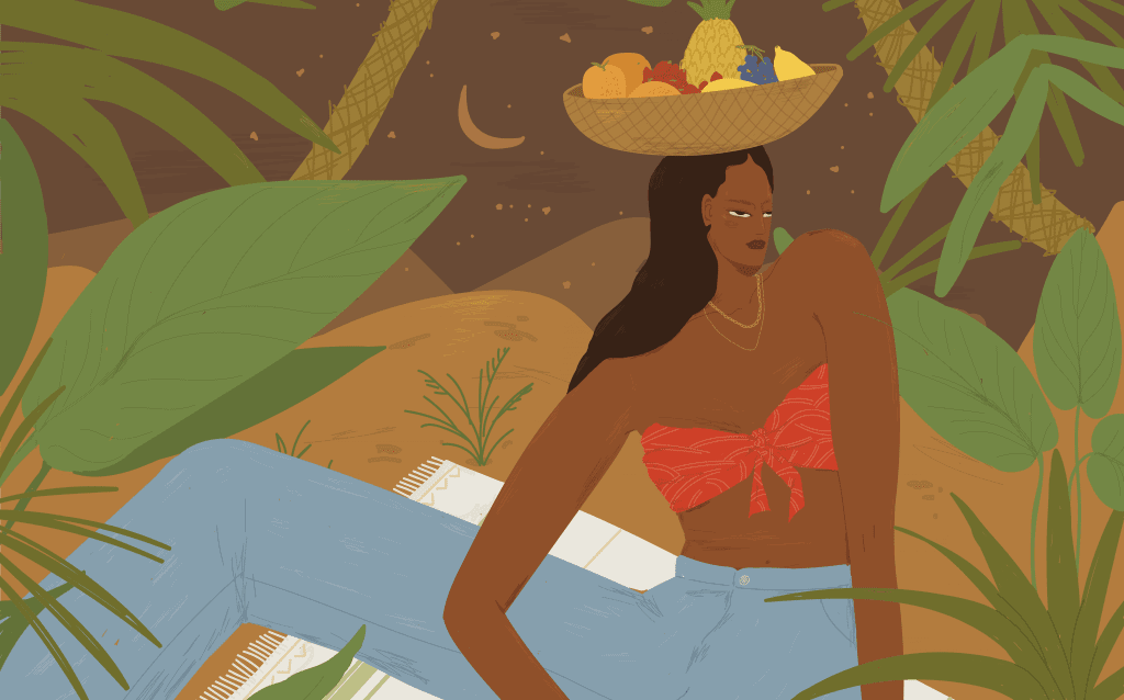 Oroscopo lunare di luglio con donna immersa nella natura