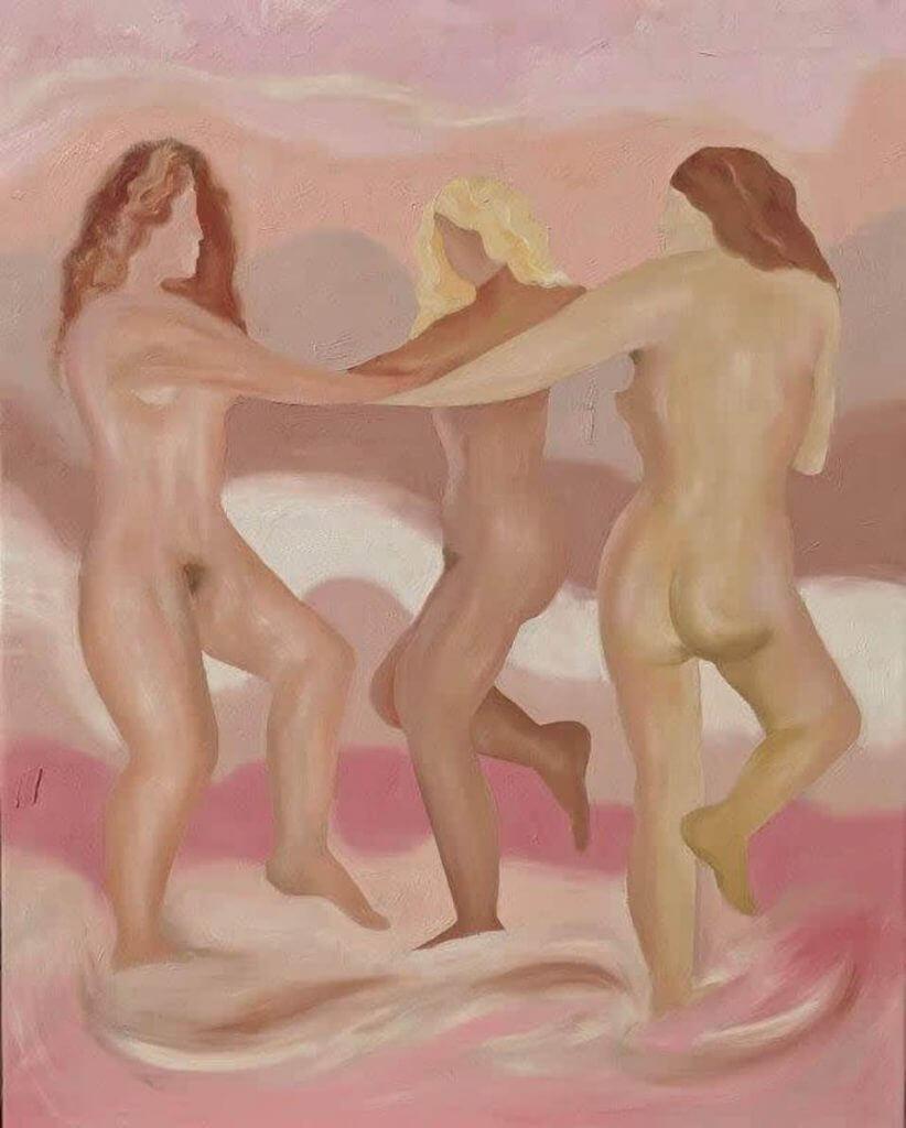 Illustrazione di corpi nudi che ballano di Sasha podgurska