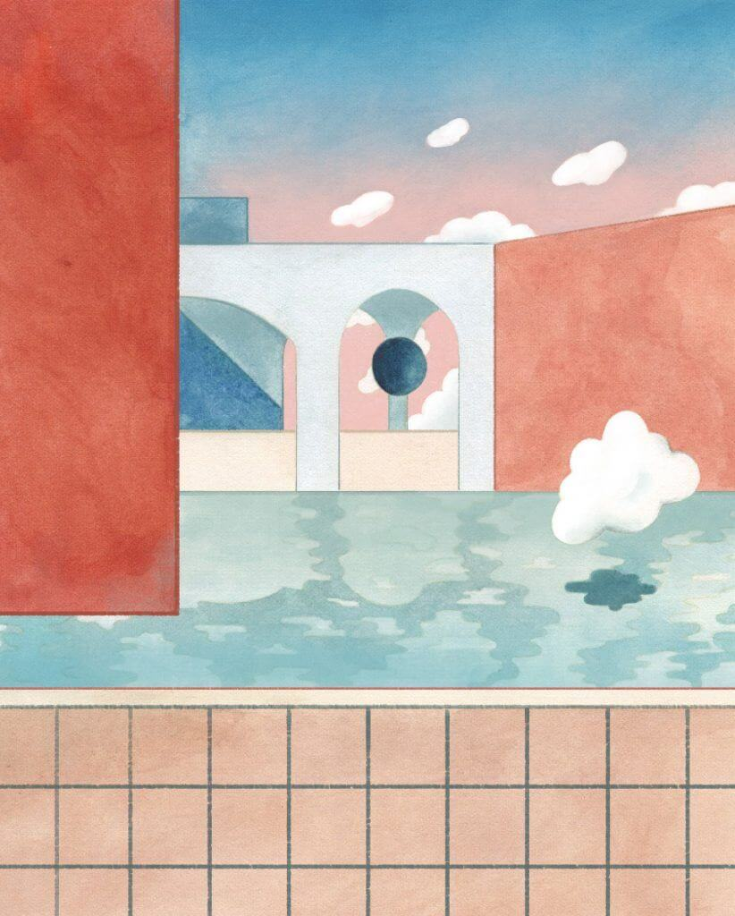 mindful masturbation Illustration by Mari Fedi of a relaxing athmosphere